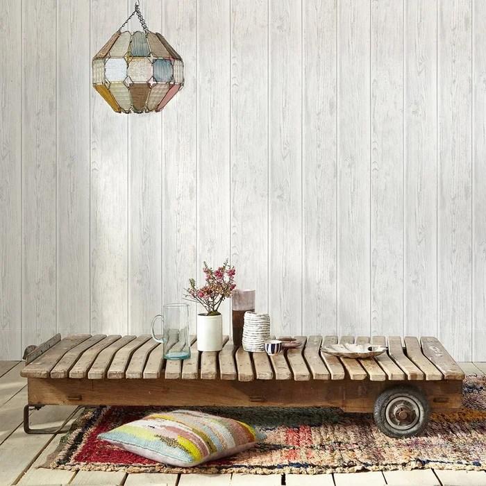 papier peint bois de bardage vintage