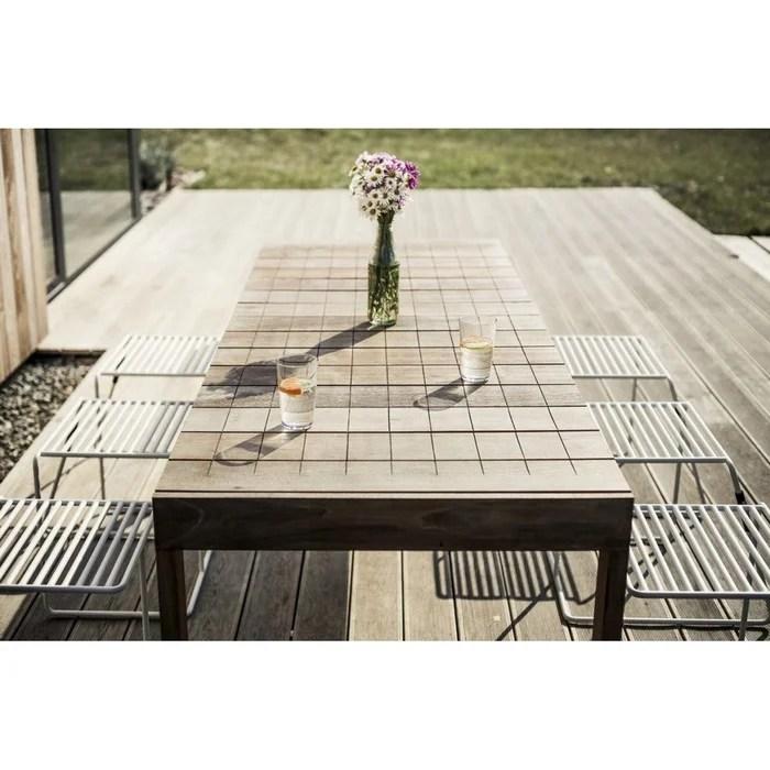 grande table de jardin rectangulaire egoe 220 cm sena