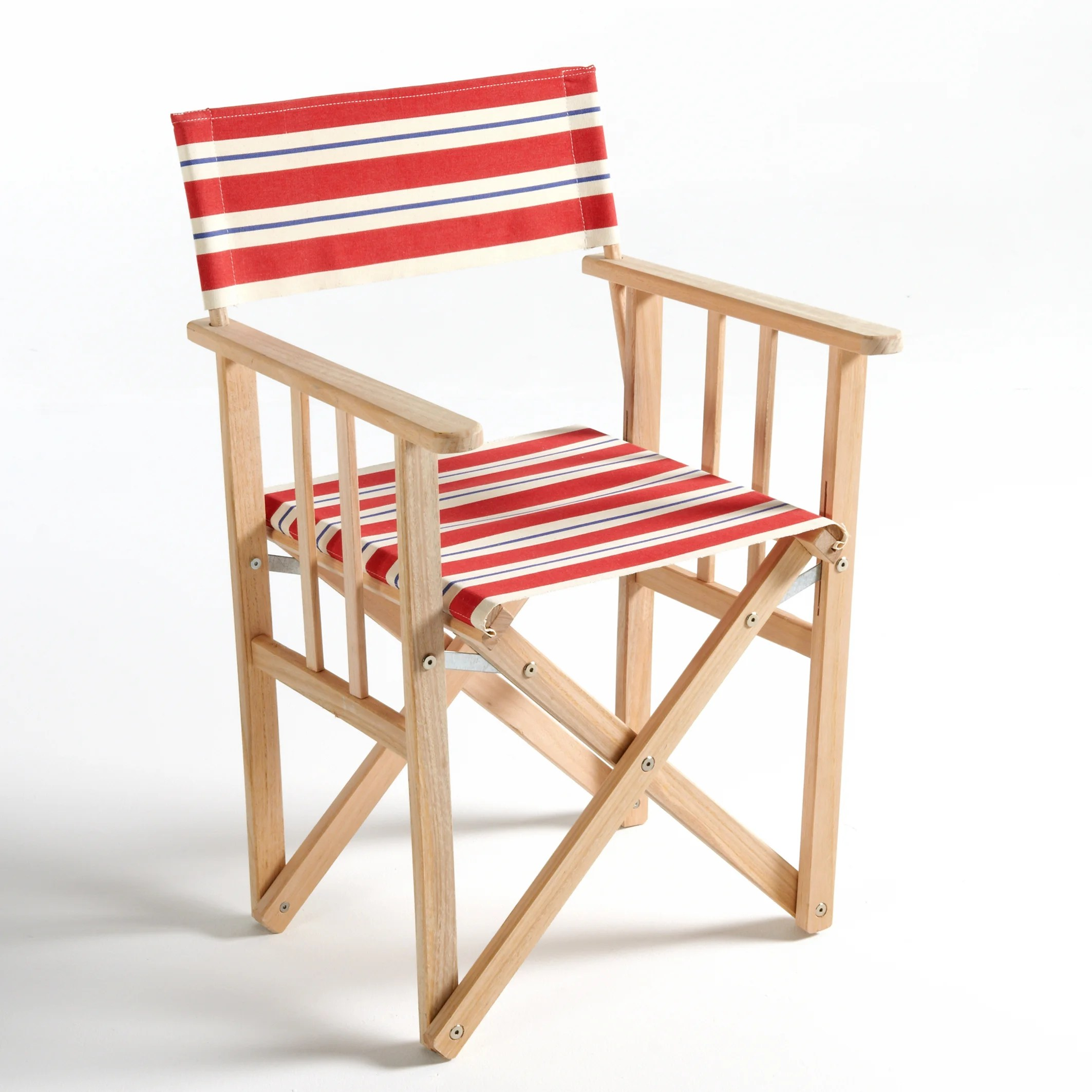 striped directors chairs desk chair toronto dovil folding director s red la redoute interieurs