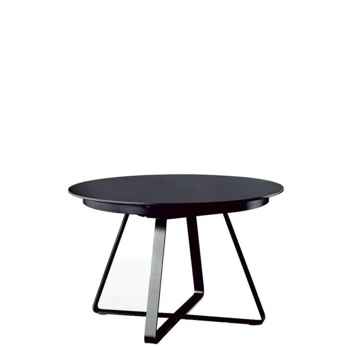 paul table ronde extensible 1m20 a 1m80 chene noir