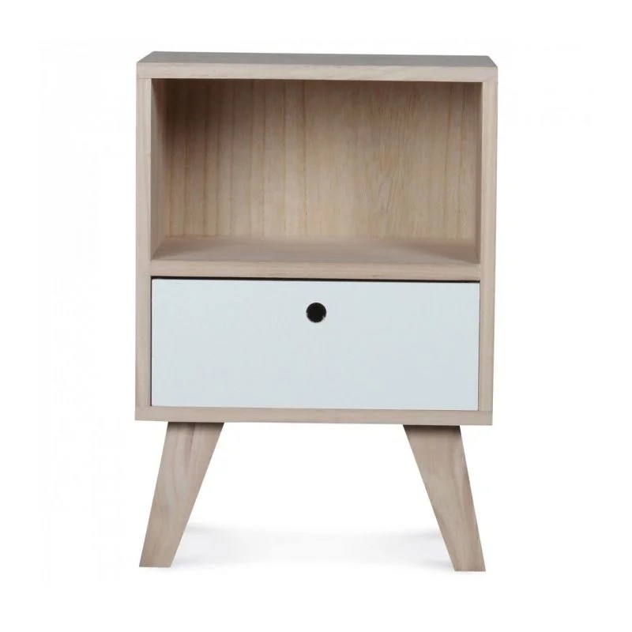 table de chevet design en bois haut 50cm wadiga image 0