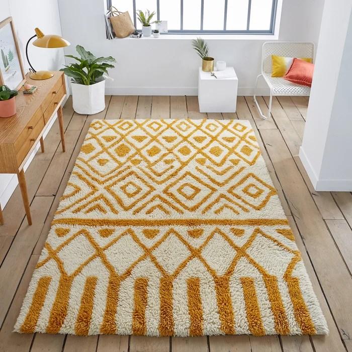 Image Ocrul Wool Rug La Redoute Interieurs