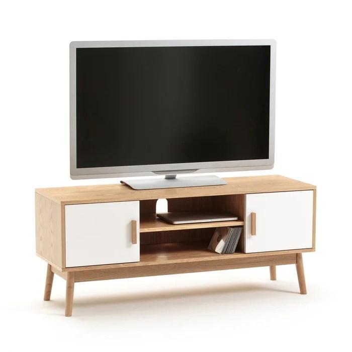 meuble tv 2 portes 1 niche sheldon