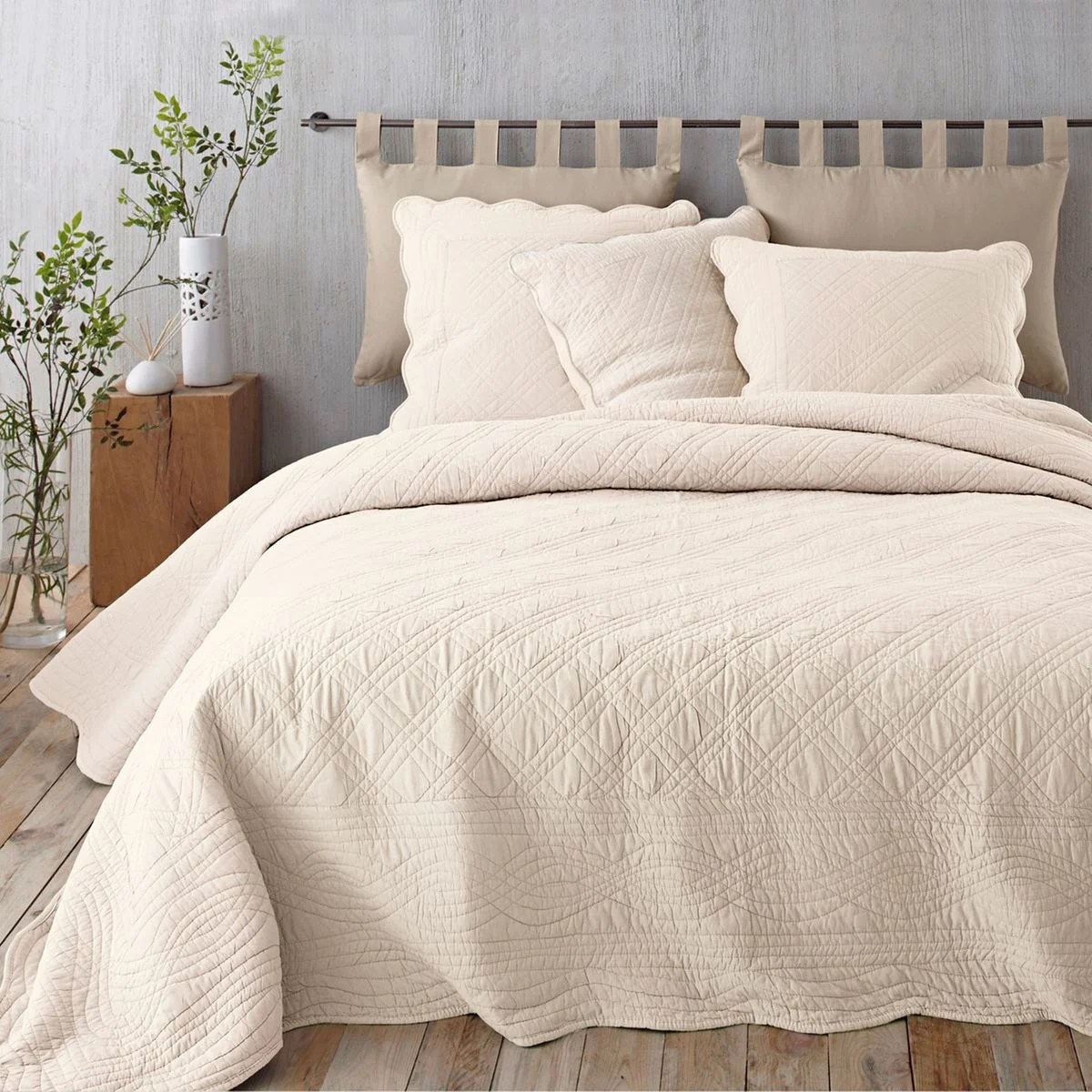 Boutis Beige Et Taupe Top Boutis Matelass Scenario With