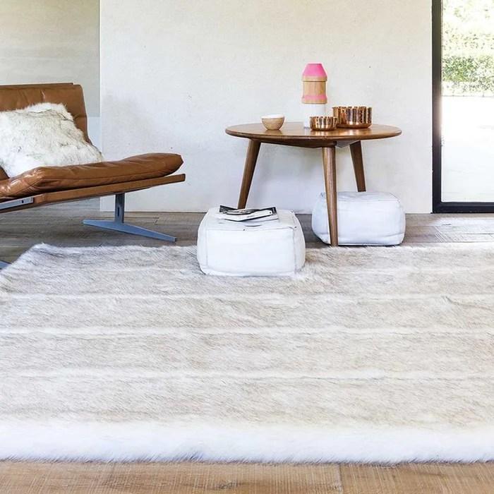 tapis moderne fourrure feel 2