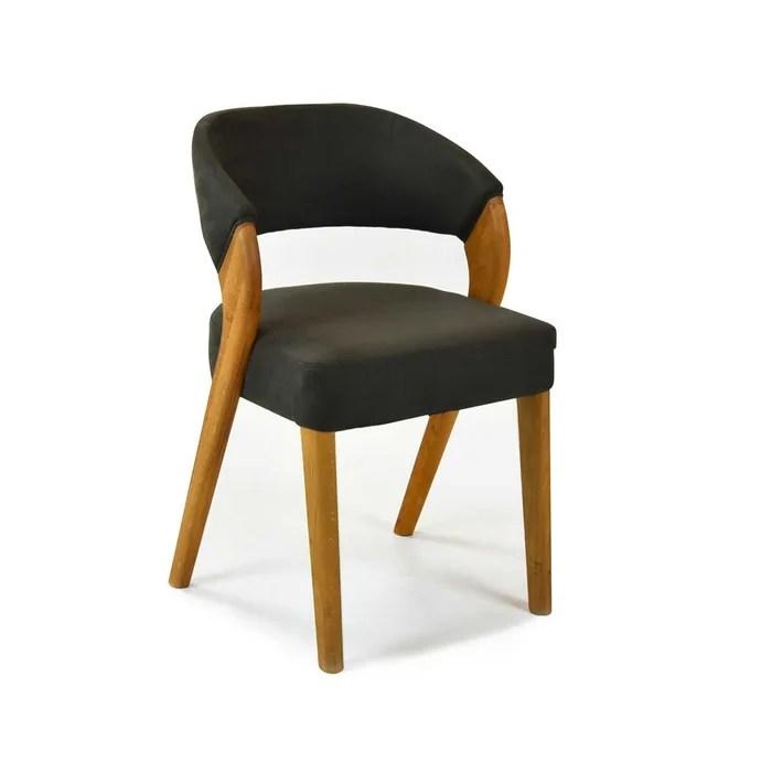 chaise scandinave en simili cuir ice