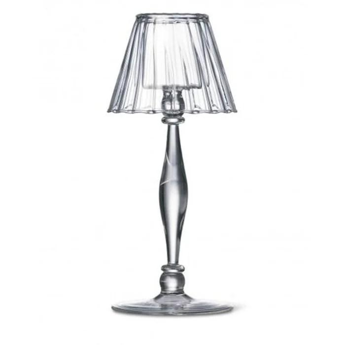 Photophore verre sur pied lampe du poète 21cm transparent