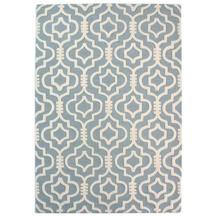 tapis de salon pure laine design hilal
