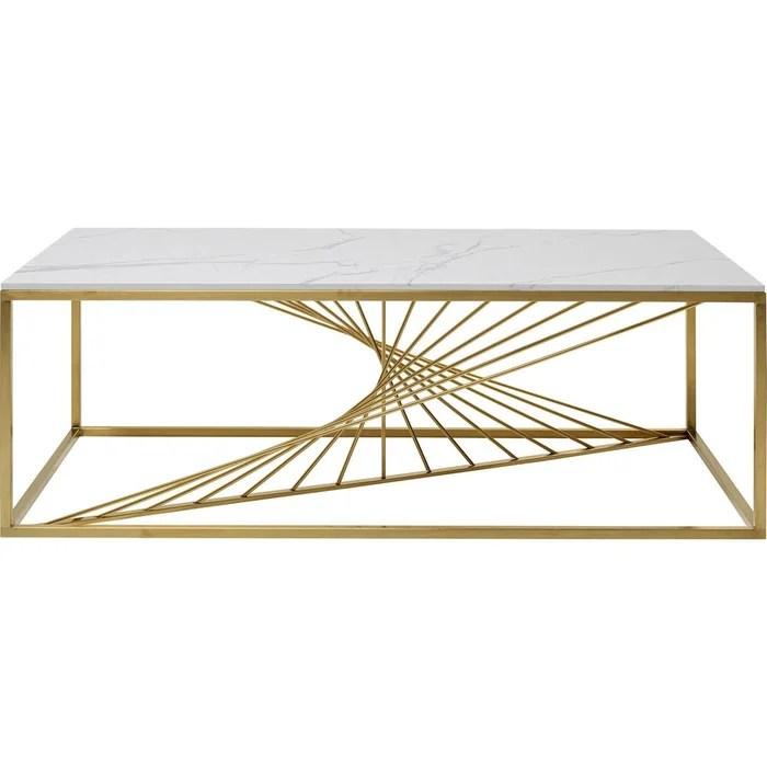 table basse art effet marbre 140x70cm