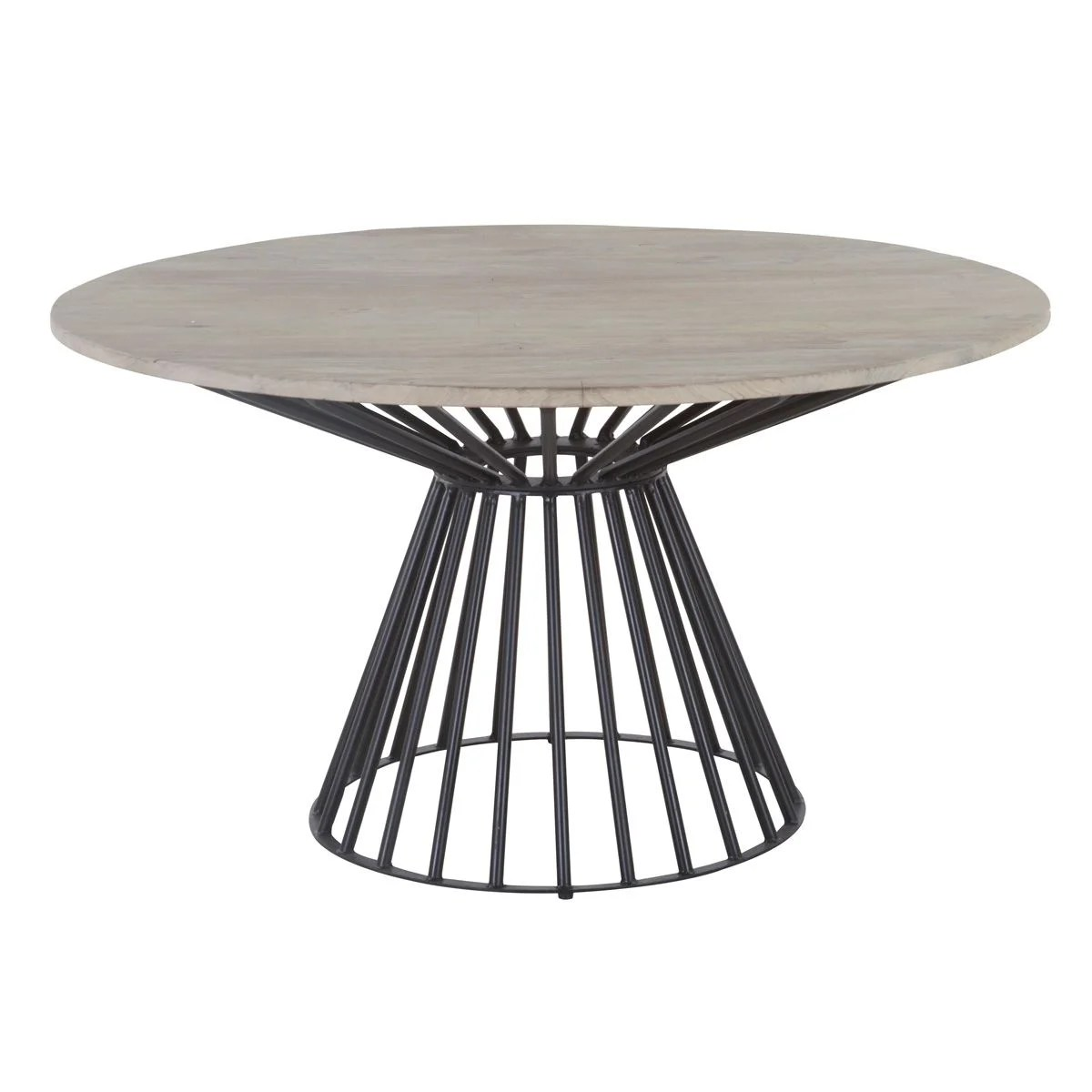 table a manger industrielle ronde pied central design