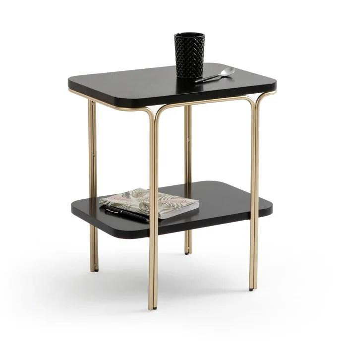 luxore double shelf bedside table