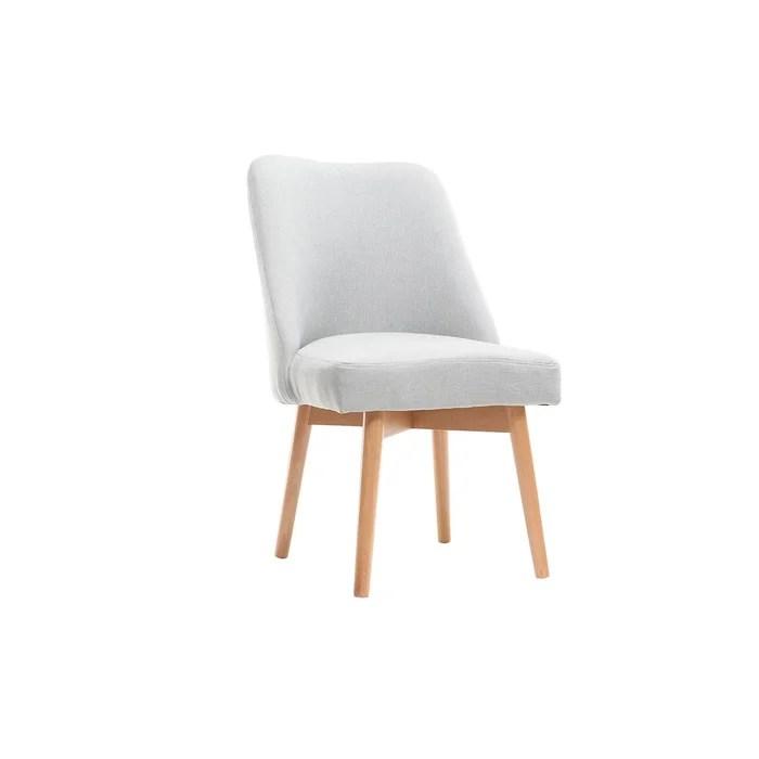 chaise scandinave tissu bois liv
