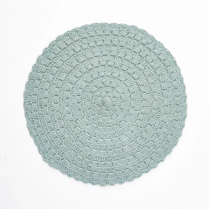 tapis rond en crochet wiku