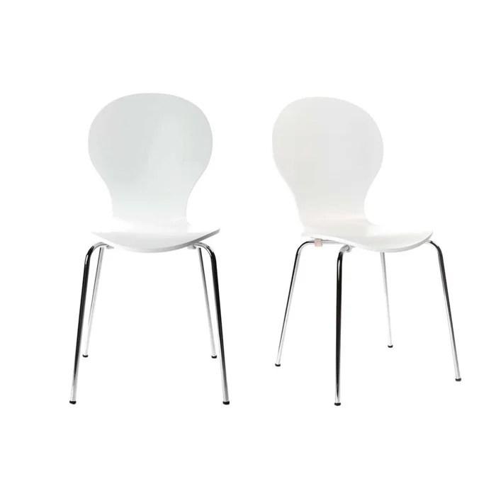 Lot De 2 Chaises Design Empilables New Abigail Miliboo