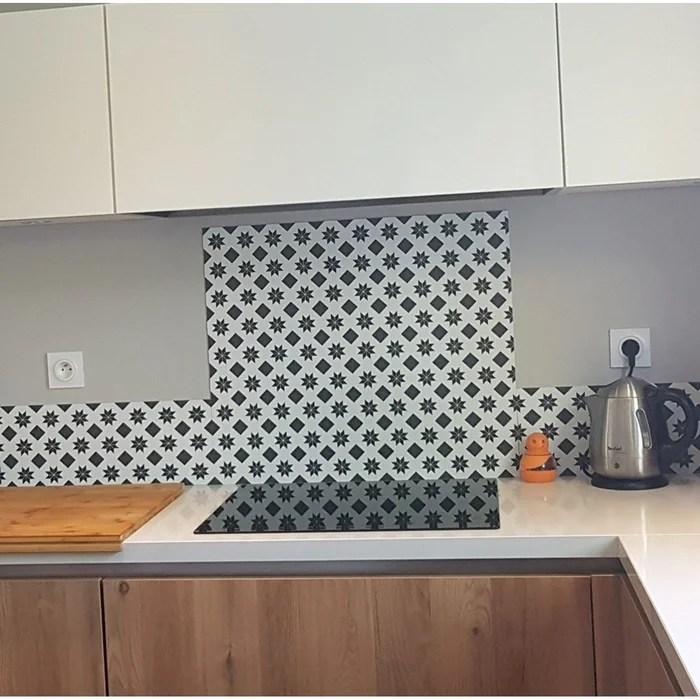 credence cuisine aluminium new carreaux de ciment l60xh70cm