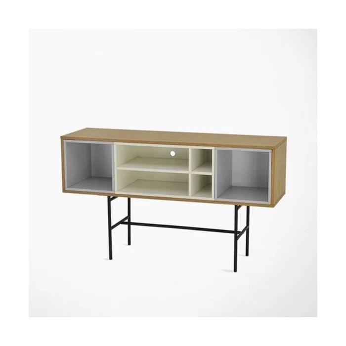 meuble tv design 140cm avec rangements lovera