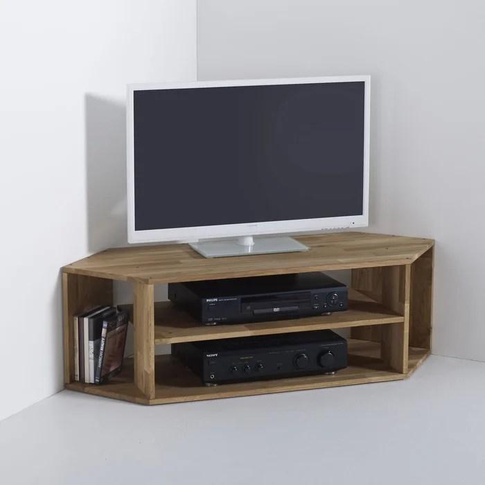 meuble tv d angle chene massif edgar la redoute interieurs image 0
