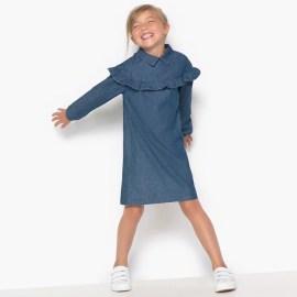 Imagen de Vestido con volante de denim 3-12 años abcd'R