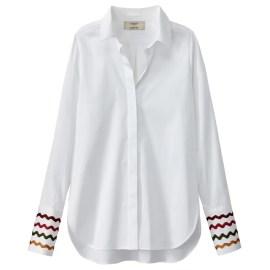 Imagen de Camisa lisa con cuello polo, manga larga JOUR NÉ X LA REDOUTE MADAME