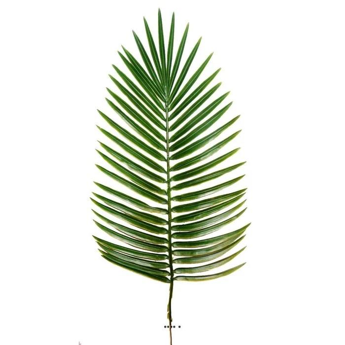 feuille de palmier phoenix x12 h 63 cm plastique pour exterieur d 27 cm superbe