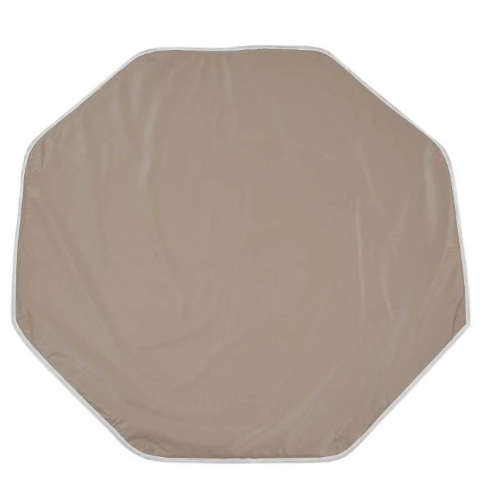 tapis de parc octogonal gris perle