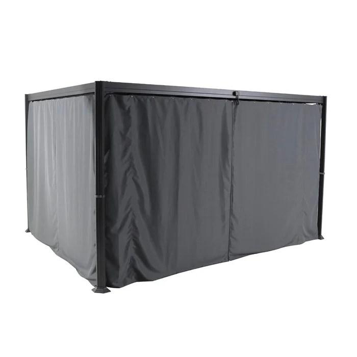 jeu de 4 rideaux pour tonnelle belize 3 x 3 8 m