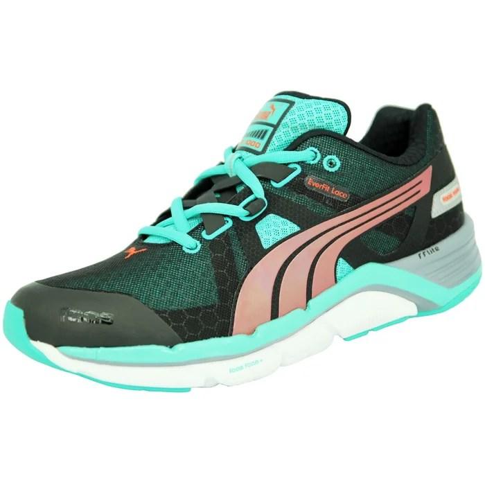 puma faas chaussures de course running homme gris vert everfit lace ff lite faas foam