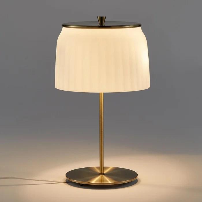 lampe sur pied opaline canele