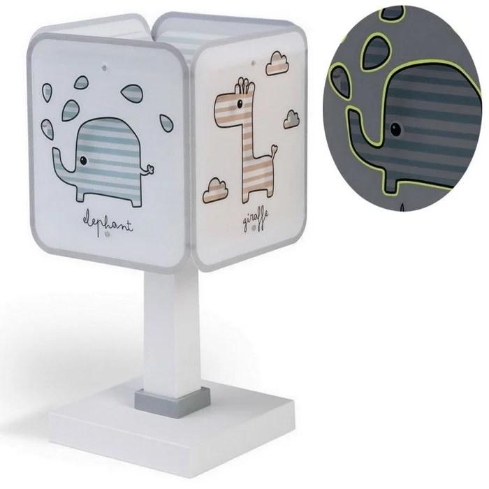 lampe de chevet pour chambre bebe enfant de chevet phosphorescente baby zoo