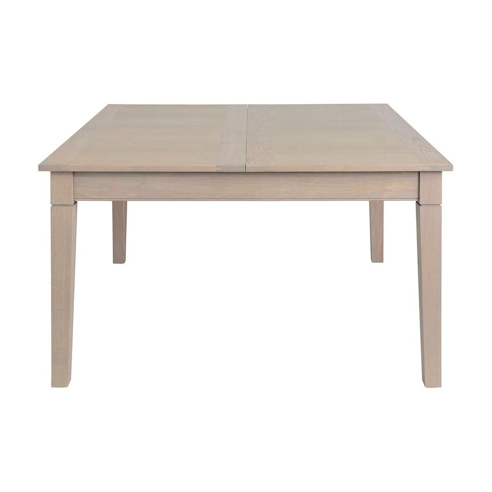 table carree extensible en bois de chene 140 cm