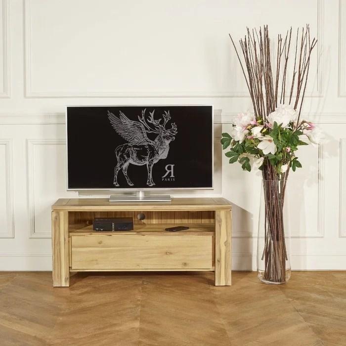 petit meuble tv hifi en acacia enzo