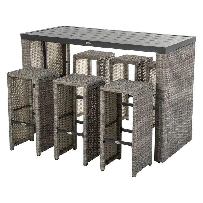 ensemble table haute et chaises tasmania 6 personnes