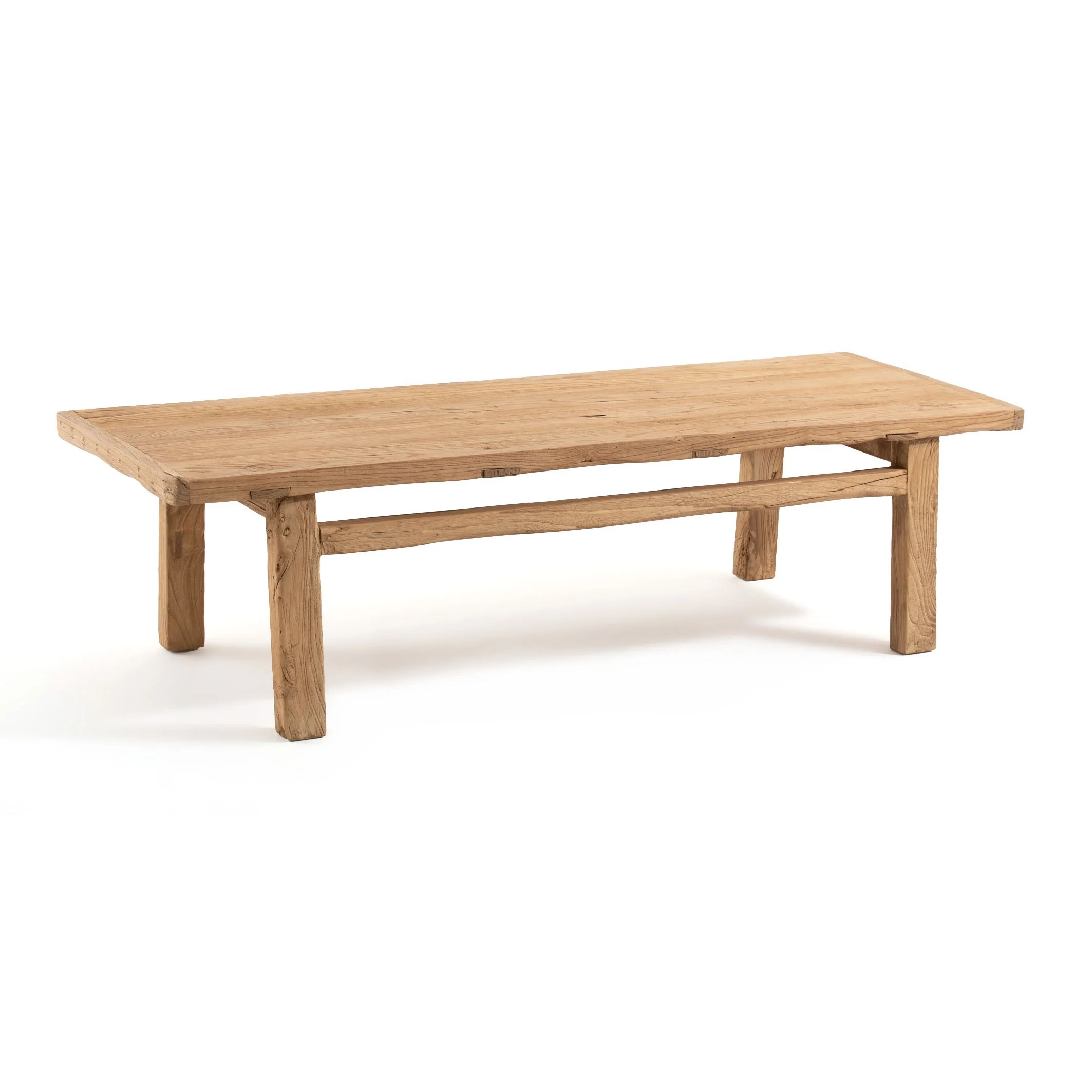 sumiko recycled solid elm coffee table