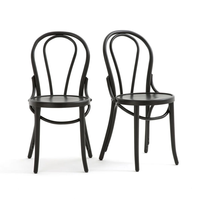 lot de 2 chaises style bistrot bistro