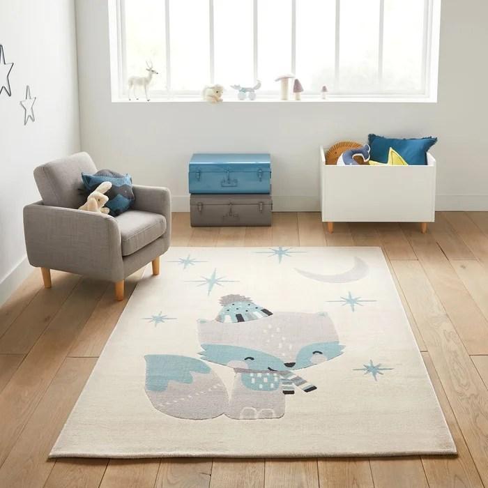 tapis enfant motif renard nathen