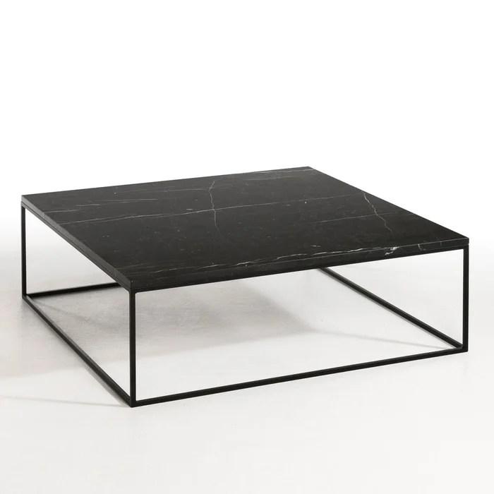 table basse metal noir et marbre mahaut am pm