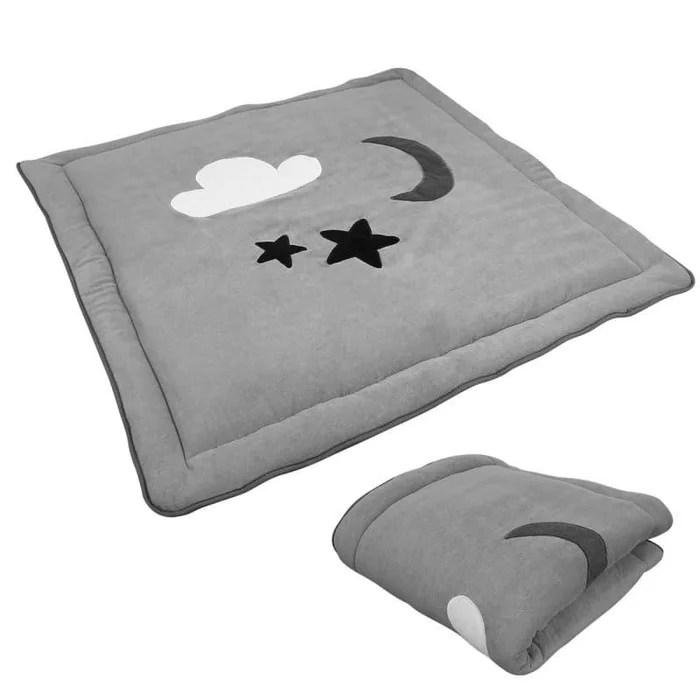 tapis de jeu de sol d eveil ou de parc bebe enfant molletonne