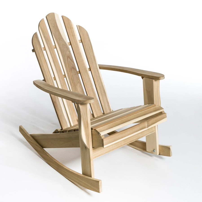 Rocking chair de jardin Théodore, style Adirondack