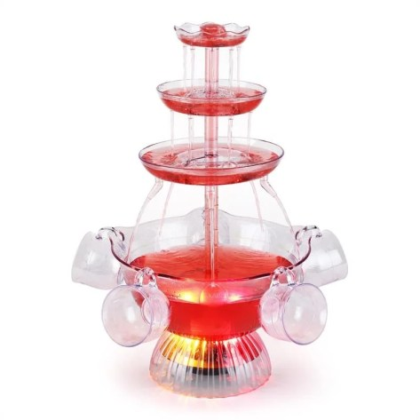 Proseccano Fontaine à boisson 3L LED 5 tasses ONECONCEPT