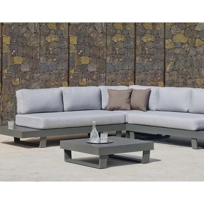 salon de jardin en aluminium canape d angle anastacia