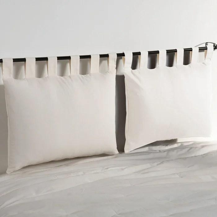 Confezione da 2 federe per testata letto in cotone