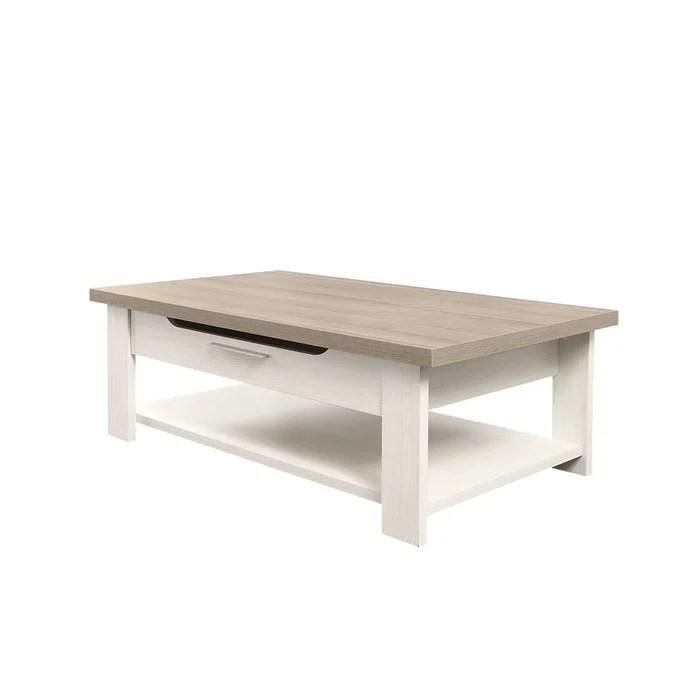 table basse bois clair avec tiroir toscane fabrication francaise