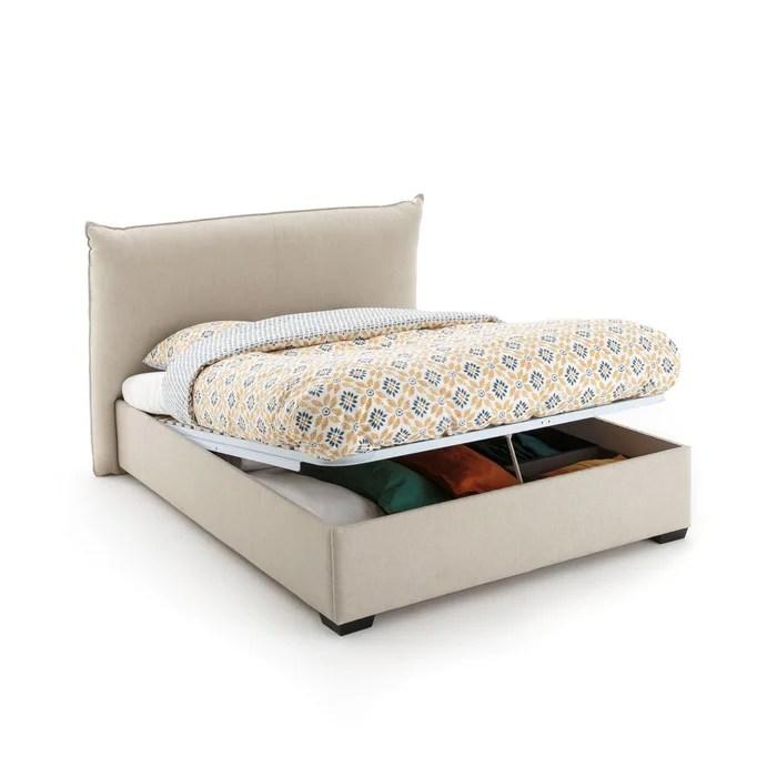 lit coffre avec sommier relevable pancho