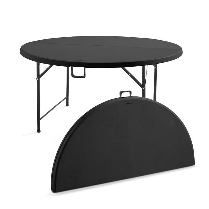 table pliante ronde 8 personnes noire
