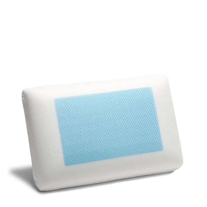 Oreiller Le Memoire De Forme Gel Blanc Bleu Calin La Redoute