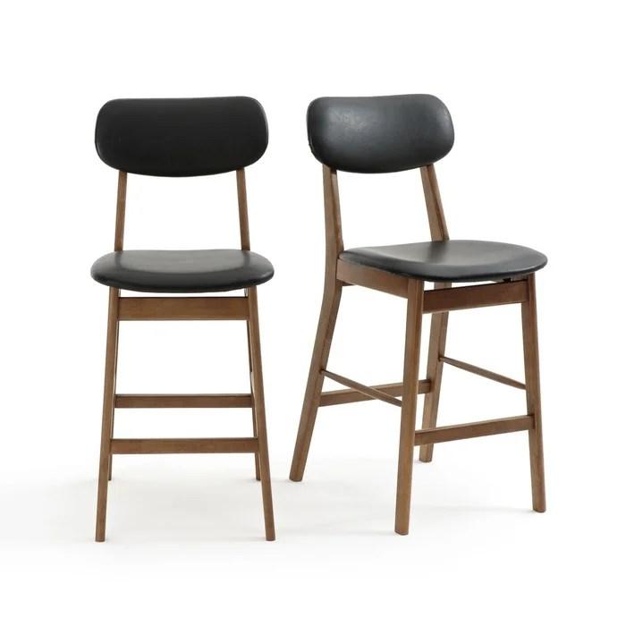 lot de 2 chaises de bar mi hauteur watford