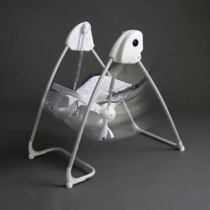 splendide 2en1 chaise haute balancelle electrique blanche bleumarine homey