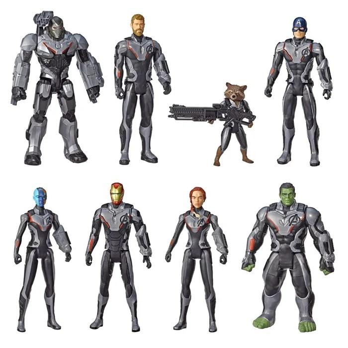 pack de 8 figurines titan 30 cm avengers endgame