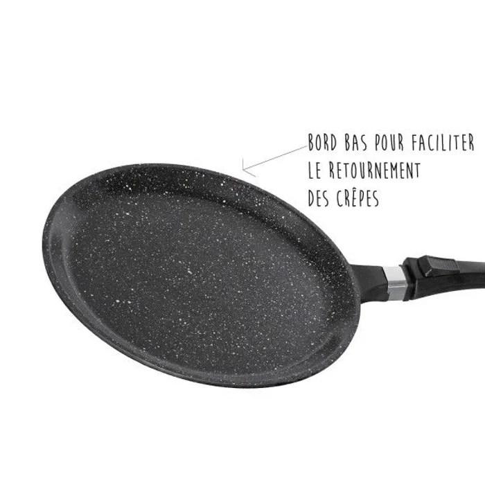 poele a crepes 28 cm pierre pradel noir