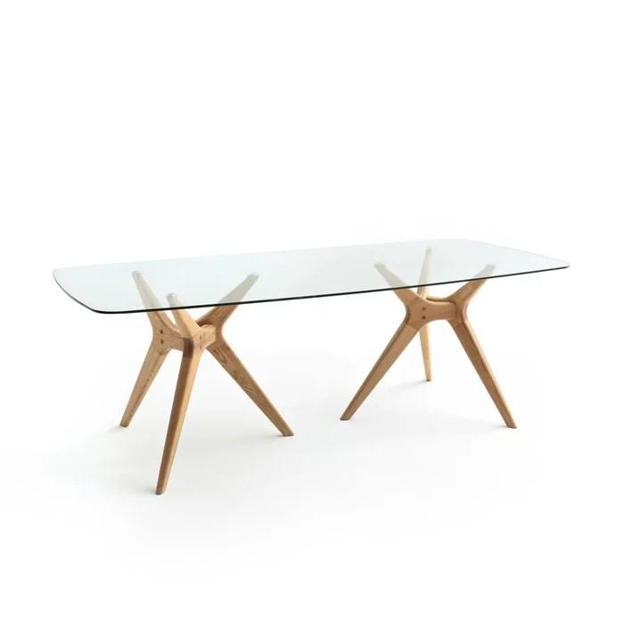 table rectangulaire verre chene maricielo